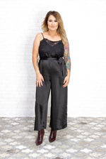 Blaire Black Satin Jumpsuit
