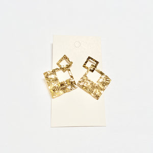 Janet Gold Square Earrings
