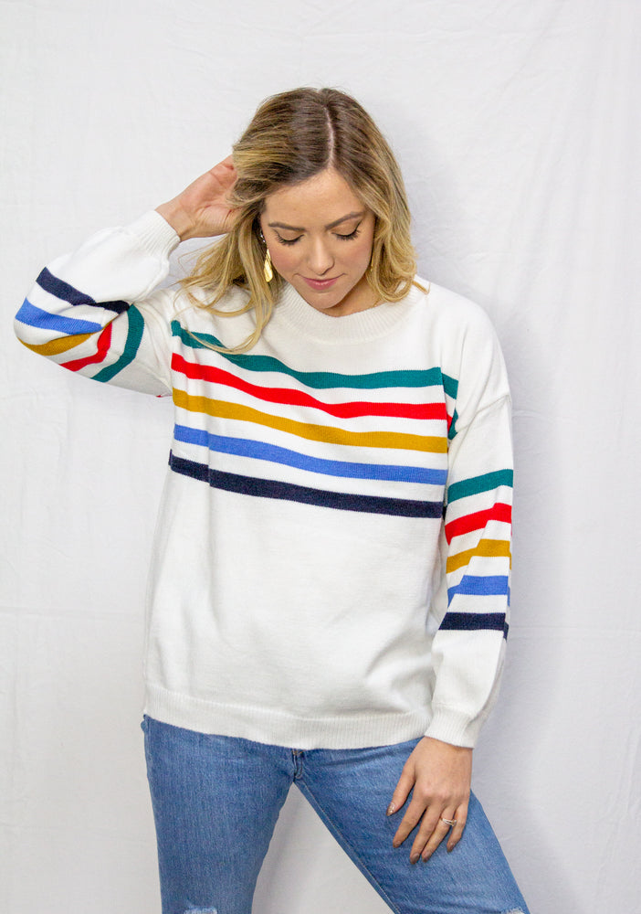 Load image into Gallery viewer, Retro Stripe Sweater