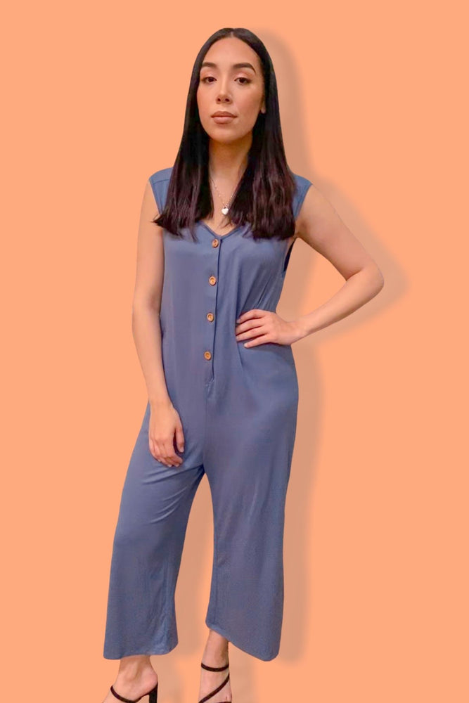 Abby Blue Jumpsuit