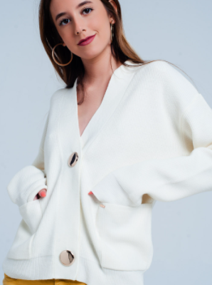 Load image into Gallery viewer, Heather Cream Cardigan