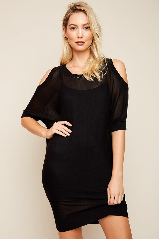 Heidi Black Sweater Dress