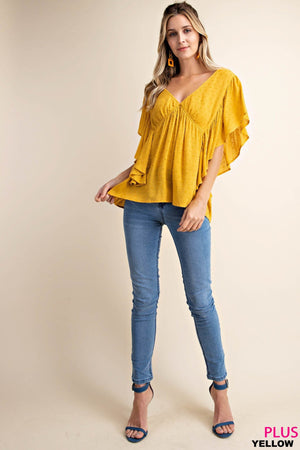 Sunny Yellow Plus Size Blouse