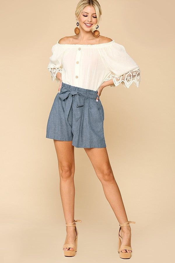 Katherine Paper Bag Shorts