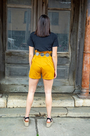 Load image into Gallery viewer, Millie Mustard Shorts