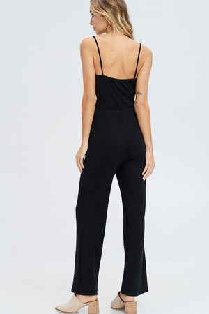 Load image into Gallery viewer, Victoria Black Wide Leg Jumpsuit