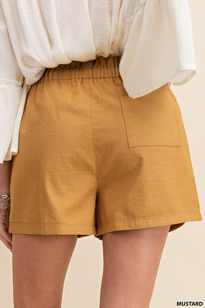 Load image into Gallery viewer, Jess Draw String Tan Shorts