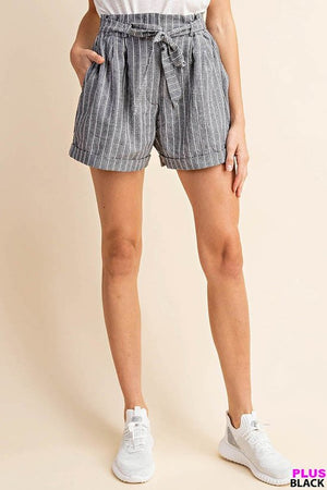 Load image into Gallery viewer, Jacklyn Stripe Shorts Plus