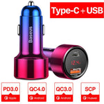 45w Quick Charge 4.0 USB Car Charger For iPhone Android - Atom Oracle
