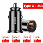 Quick Charge 4.0/3.0 USB Type C Car Charger For iPhone Android - Atom Oracle