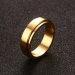 6/8mm Spinner Ring Men Women Stress Release Stainless Steel Jewelry Rings