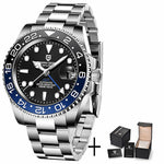 Luxury Men Mechanical Wristwatch Sapphire Glass Stainless Steel GMT Brand Men Watches