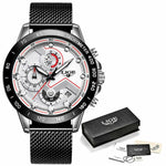 New Fashion Men Watches Stainless Steel Brand Luxury Sports Chronograph Watches