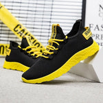 Men Casual Shoes Sneakers Breathable Air Mesh Lace Up Wear-Resistant Sport Shoes