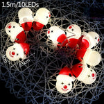 Christmas Snowman Led String Lights Home Party Decor Christmas Ornament