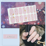 Nail Art Stickers Gel Polish Nail Strips Full Cover Colorful Nail Polish Stickers