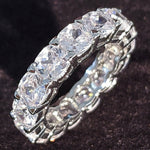 Sterling Silver Wedding Bands Eternity Ring Jewelry For Women