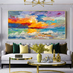 Colorful Nature Landscape Scenery Picture Home Decoration Abstract Oil Painting