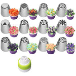 Flower Piping Icing Nozzles Baking Tools (14pc set) - Atom Oracle