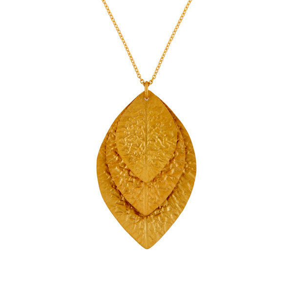 Laurel Pendant in Gold Foil