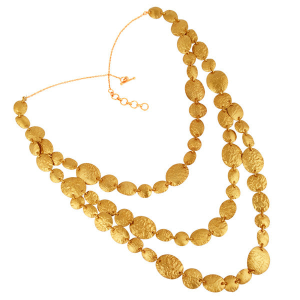 Odessa Gold Foil Layered Collar Necklace