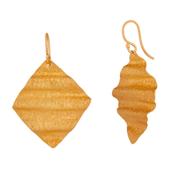 Xandra Earring in Brushed Gold