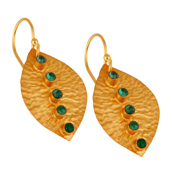 Adora Ear in Gold Foil & Emerald