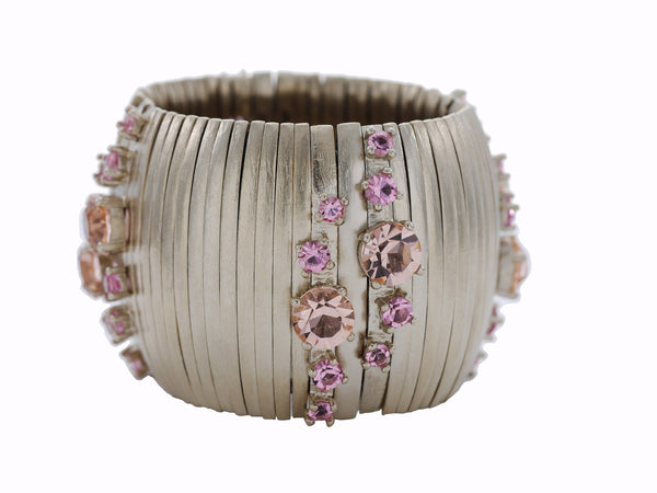 Caterpillar Cuff in Soft Champagne & Cava