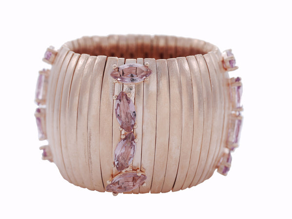 Caterpillar Cuff in Rose Gold & Cava