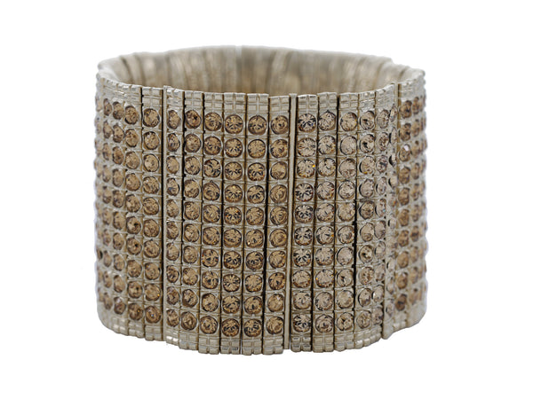 Skyline Cuff in Pale Gold Glitz