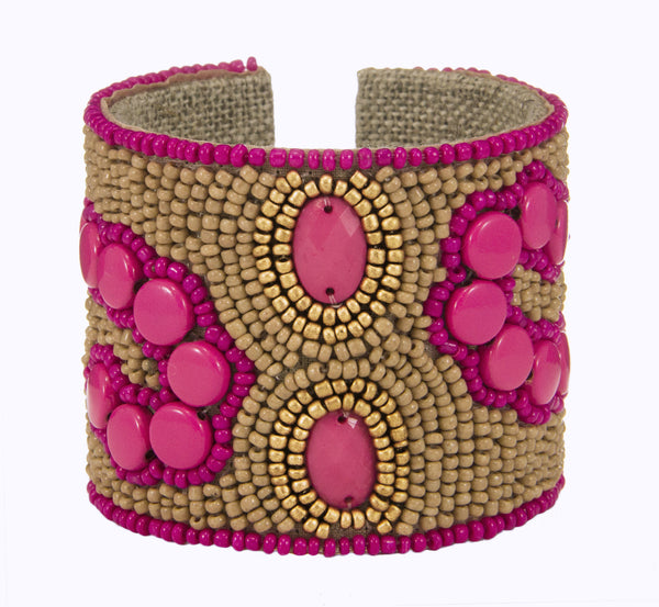 Arte Moderne Devi Cuff in Poppy & Tan