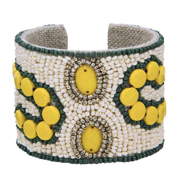 Arte Moderne Devi Cuff in Lemon Drop & Aged Tin