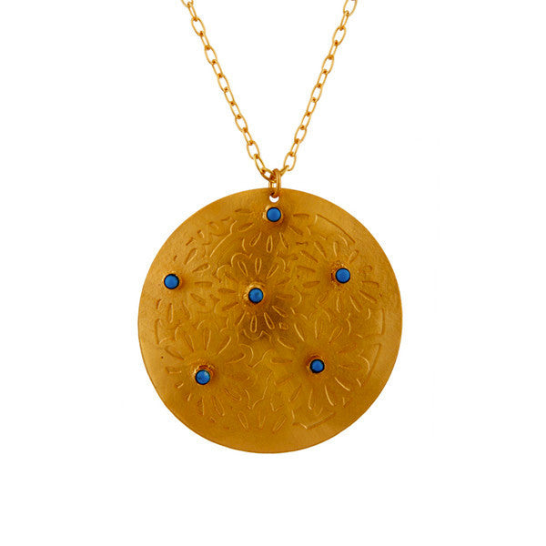 Melina Pendant in Gold & Turquoise