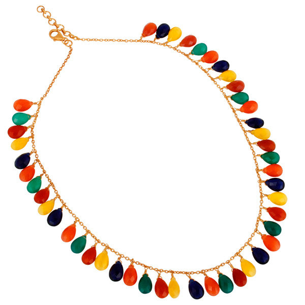 Saphira Layering Necklace in Rainbow