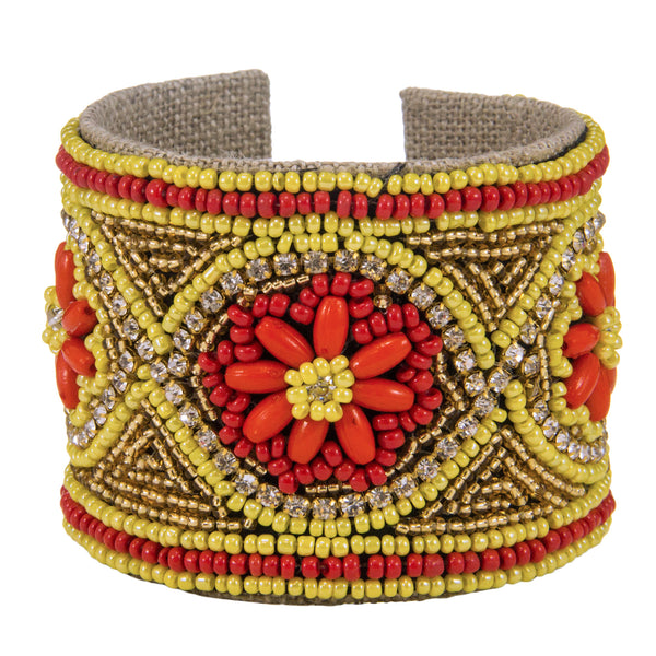 Casbah Devi Cuff in Moroccan Red
