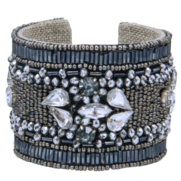 Glam Devi Cuff in Graphite Luxe
