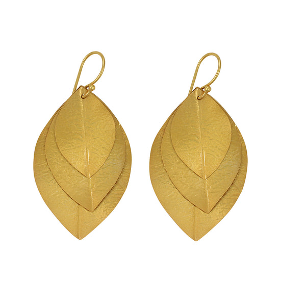 Laurel Earring in Gold Foil