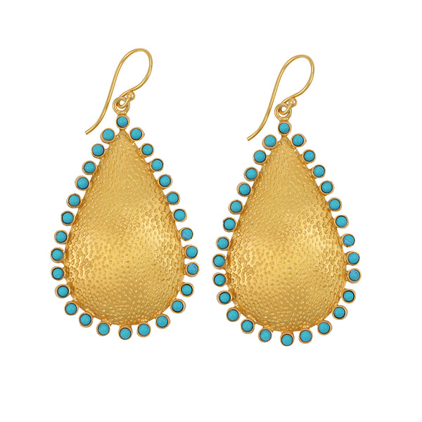 Zoe Earring in Turquoise & Gold