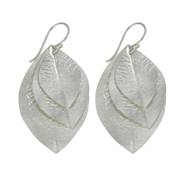 Laurel Earring in Silver Foil