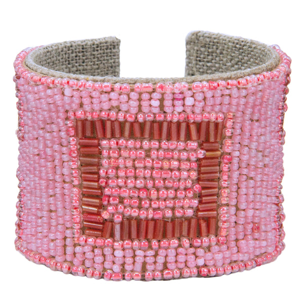 Mondrian Devi Cuff in Polished Pink & Coral