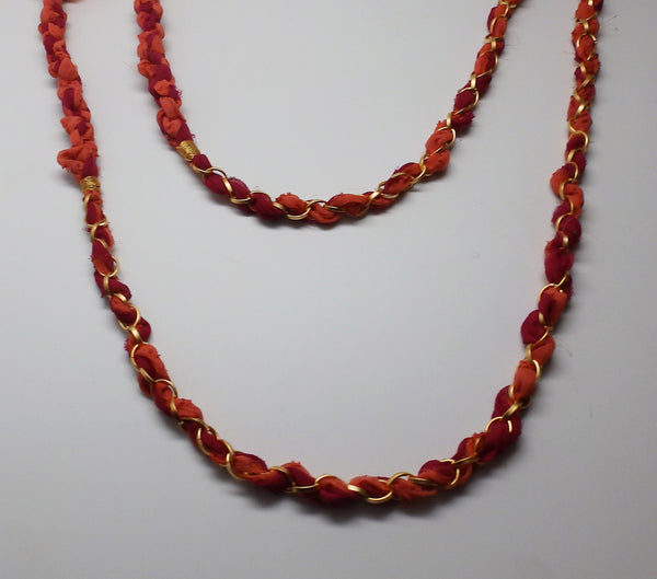 Chloe Scarf Necklace in Sangria Wine