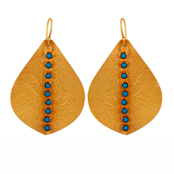Eva Earring in Turquoise & Gold