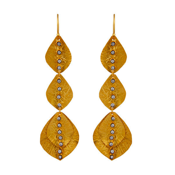 Delia Earring in Gold & Clear Crystal