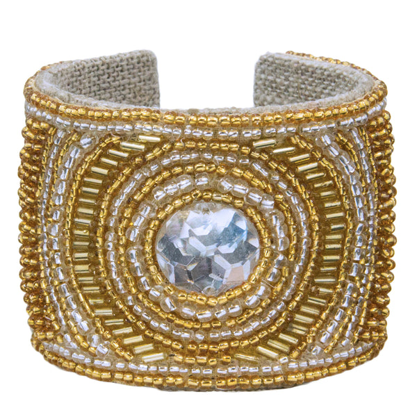 Rotunda Pattern Devi Cuff in Gold Rush