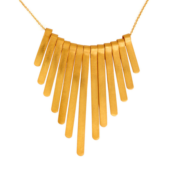 Cleo Necklace in Brushed Gold
