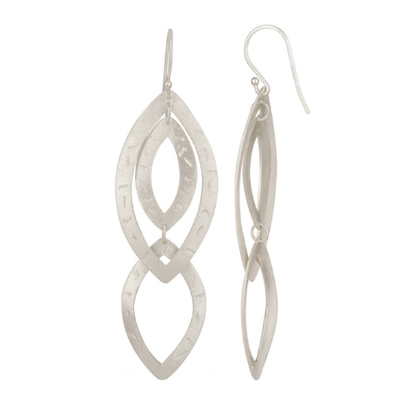 Isa Earring in Brushed Silver