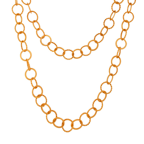 Coco Link Layering Necklace in Gold