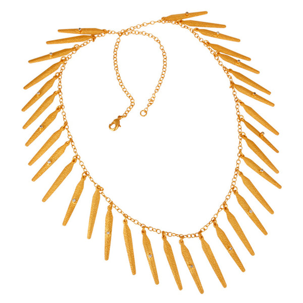 Antigone Layering Necklace in Gold & Crystal