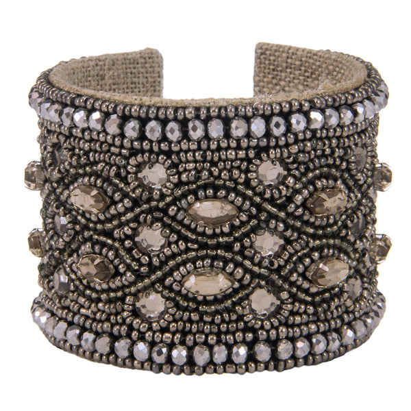 Savannah Devi Cuff in Wet Charcoal
