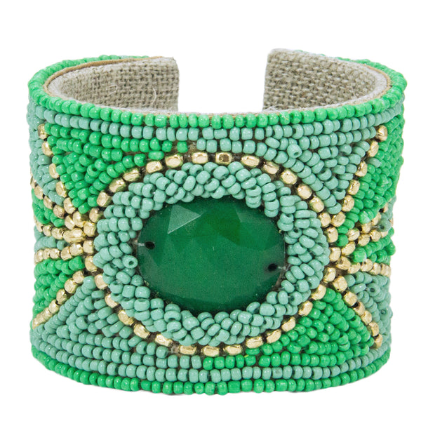 Solstice Devi Cuff in English Mint